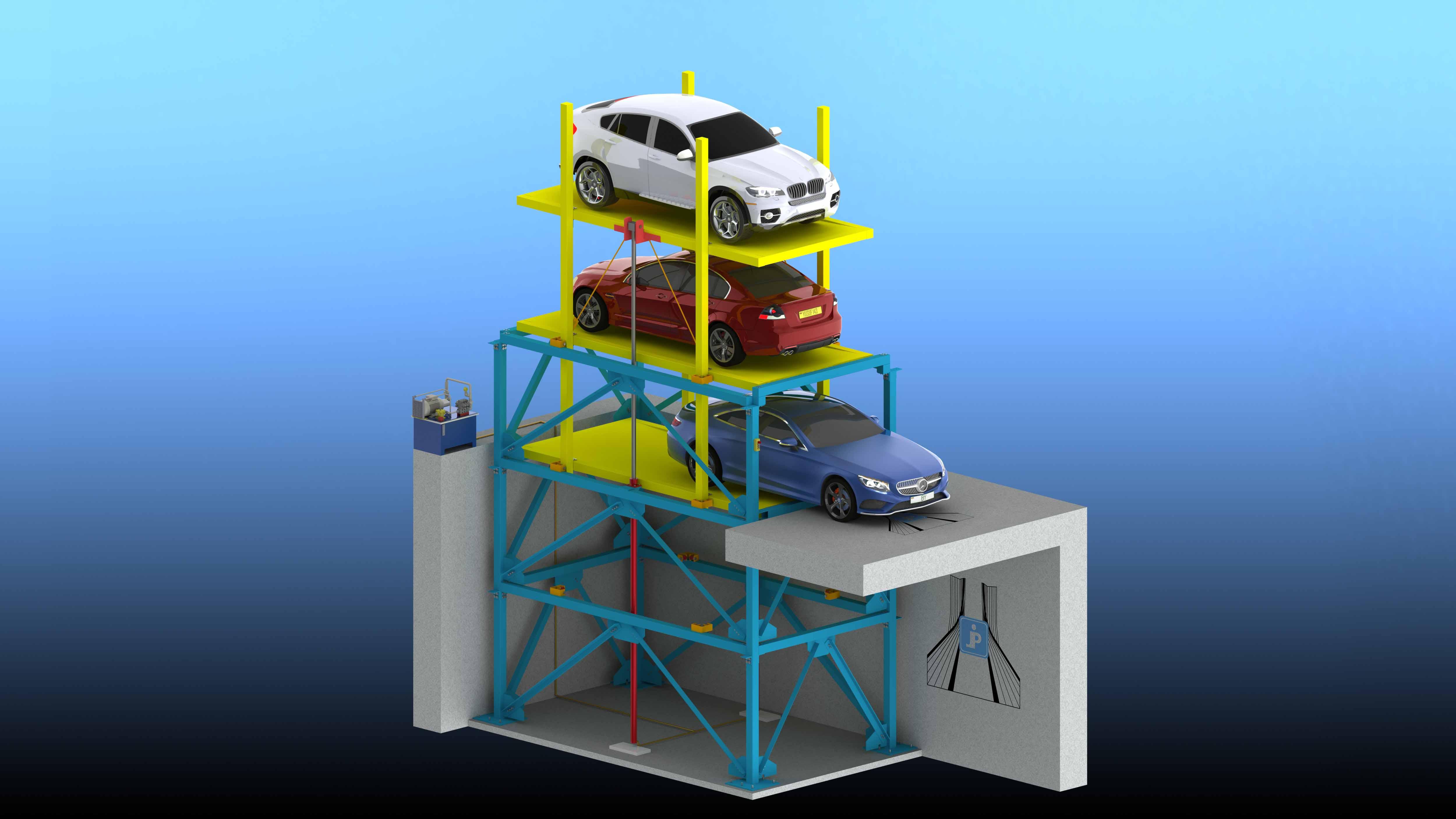 پارکینگ مکانیزه، پارکینگ کشویی، پارکینگ 3 طبقه، پارکینگ خانگی، افزایش پارکینگ
